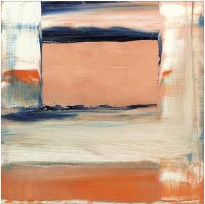 "ORANGE & BLUE II By Sharon Gordon-33"" x 33"" - Stretched Canvas - art.com"