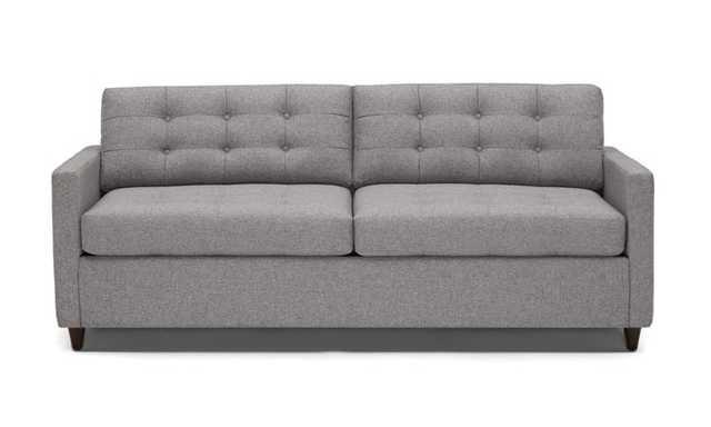 Gray Eliot Mid Century Modern Sleeper Sofa - Taylor Felt Grey - Coffee Bean - Memory Foam - Joybird