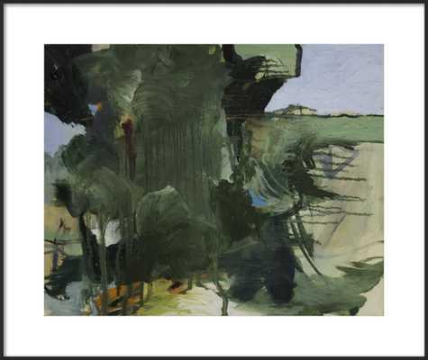 """Trees I - Matte Black Metal frame - 31x26"""" framed with matte - Artfully Walls"""