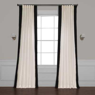 "Winsor Semi-Sheer Rod Pocket Single Curtain Panel - Black, 50""W x 84""L - Wayfair"