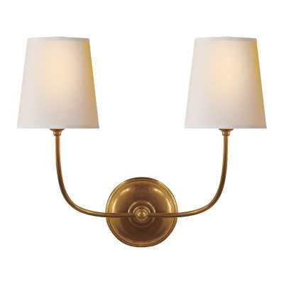 VENDOME DOUBLE SCONCE - HAND-RUBBED ANTIQUE BRASS - McGee & Co.