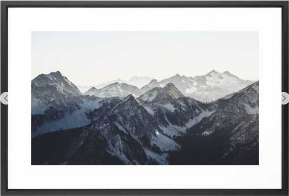 Mountain Mood Framed Art Print - Society6