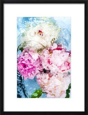 Abstract Floral No. 5 - 14X20 - BLACK WOOD FRAME - Artfully Walls