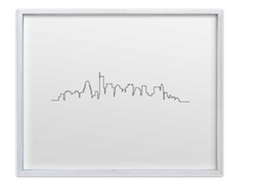 THE BOSTON SKYLINE - Minted