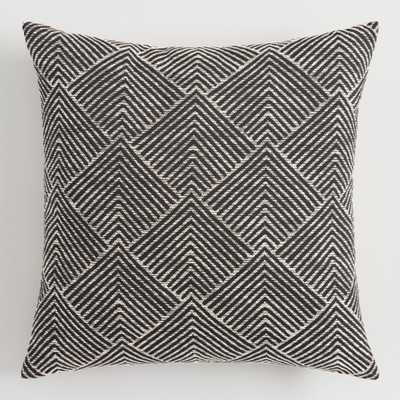 Geometric Angle Jacquard Throw Pillow: Black by World Market - World Market/Cost Plus