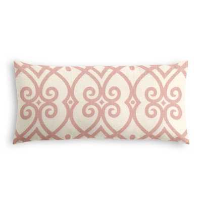 Lumbar Pillow - Scrolling Along - Shrimp, down insert - Loom Decor