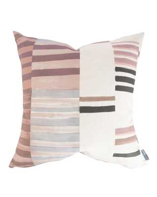 """ZOEY PATCHWORK STRIPE PILLOW COVER WITHOUT INSERT, 24"""" x 24"""" - McGee & Co."""