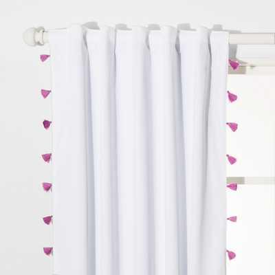 Tassel Blackout Curtain Panel - Pillowfort - Violet - Target