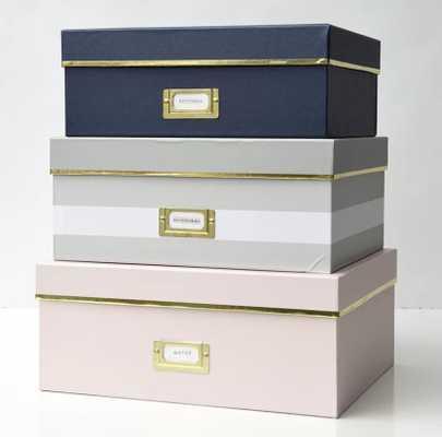 Foil Storage Paper Box; Pink - Wayfair