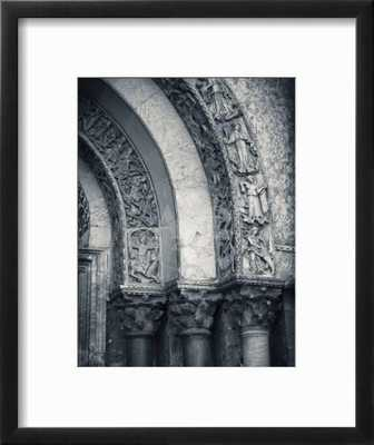 """San Marco Basilica, Piazza San Marco, Venice, Italy; Frame- chelsea black; Glass- clear acrylic; Mat- Crisp bright white; Finished size- 15""""x18"""" - art.com"""