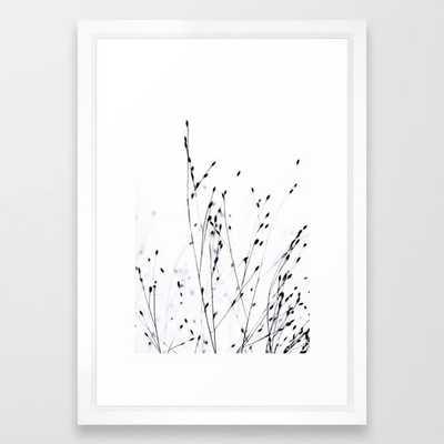 """BLACK GRASS Framed Art Print - Vector White Frame - Small (15"""" x 21"""") - Society6"""