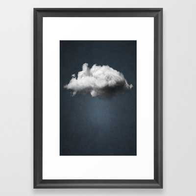WAITING MAGRITTE Framed Art Print - Society6