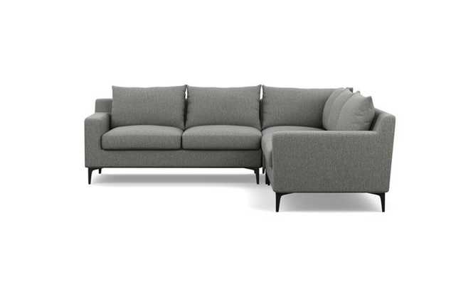 Sloan Corner Sectional Sofa, Matte Black Sloan L Leg - Interior Define