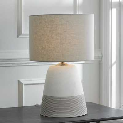 Grooved Concrete Table Lamp - Small - Shades of Light