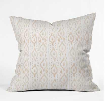 DESERT LINEN Throw Pillow - Wander Print Co.
