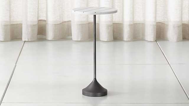 Prost Tall Brass and Marble Drink Table - Crate and Barrel