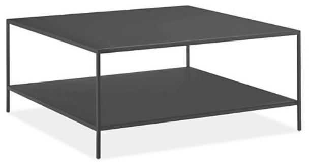 Slim Coffee Table, Square, Graphite - Room & Board