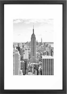 New York City, Manhattan (Black & White) Framed Art Print framed 15x21 - Society6