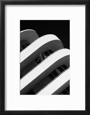 "Art Deco Architecture of Miami Beach - South Beach - Florida; Frame- chelsea black; Glass- Clear acrylic; Mat- crisp bright white; Finished size- 14""x18"" - art.com"