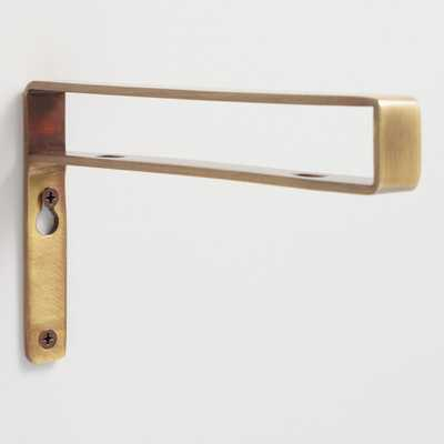 Antique Brass Mix & Match Shelf Brackets Set of 2: Metallic/Gold by World Market - World Market/Cost Plus