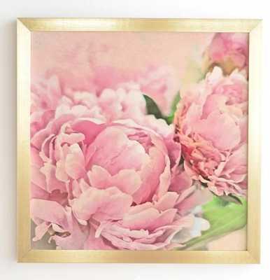 Pink Peonies Framed Graphic Art - Wayfair