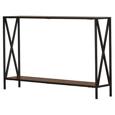 Abbottsmoor Metal Frame Console Table - Cherry - Wayfair