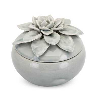 Cici Large Lidded Flower Box - Mercer Collection
