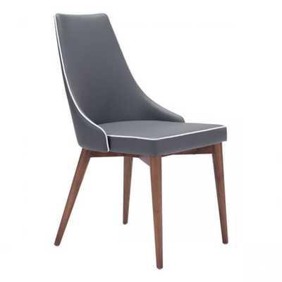 Moor Dining Chair Dark Gray, Set of 2 - Zuri Studios
