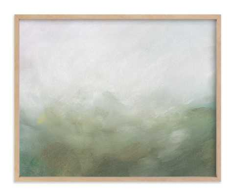 """Morning Mist - 16"""" x 20"""" - Natural Raw Wood Frame - Minted"""
