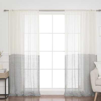 "Renfro Linen Voile Solid Room Darkening Rod Pocket Single Curtain Panel - 52"" x 84"" - Wayfair"