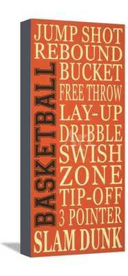 """Basket-Ball Canvas,  16"""" x 24"""" (9.3"""" x 19.9"""" No Border) - art.com"""