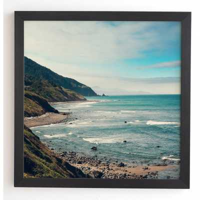 California Pacific Coast Highway Framed Photographic Print - Black Frame 30x30 - Wayfair