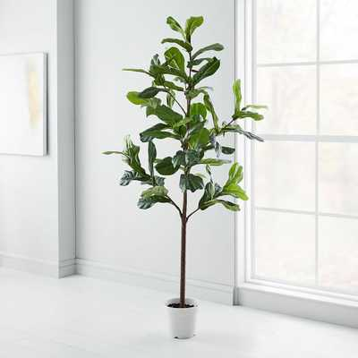 Faux Fiddle Leaf Fig Tree / 7' - West Elm
