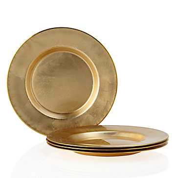 Paramount Dinnerware - Sets of 4 [Charger - Set of 4] - Gold - Z Gallerie