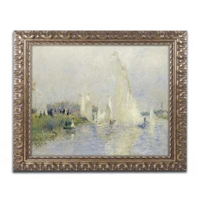 """Regatta at Argenteuil 1874"""" by Pierre-Auguste Renoir Framed Painting Print on Wrapped Canvas - Wayfair"""