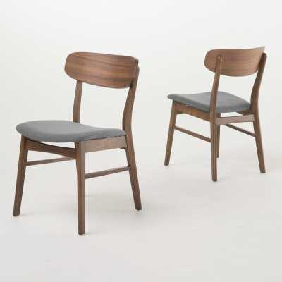 Barros Side Chair - Walnut / Dark Gray - set of 2 - AllModern