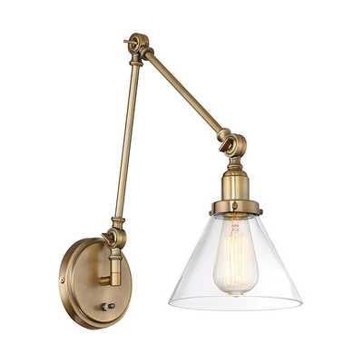 INDUSTRIAL TRIANGLE SHADE SWING ARM WALL SCONCE - Shades of Light
