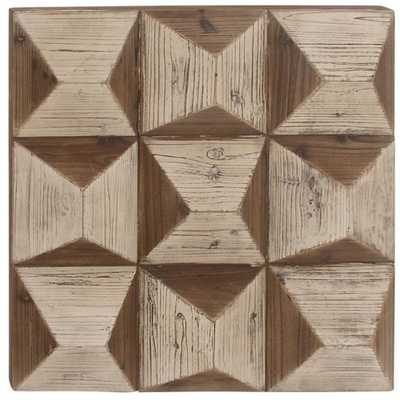 DecMode Geometric Shaped Square Wall Panel - Hayneedle