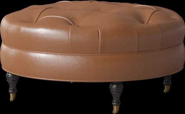 Lowery Leather Ottoman - Wayfair