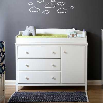 Cotton Candy Changing Dresser- White - Wayfair