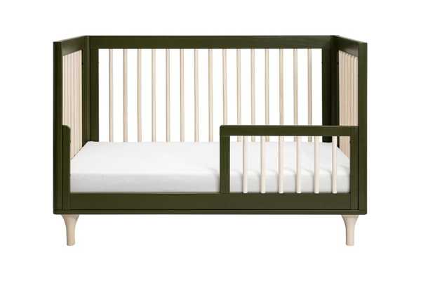 Lolly 3-in-1 Convertible Crib - Olive with Natural - Babyletto