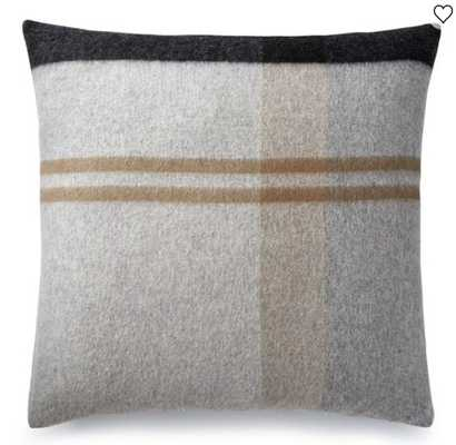 Plaid Lambswool Pillow Cover, Greyson - Williams Sonoma Home