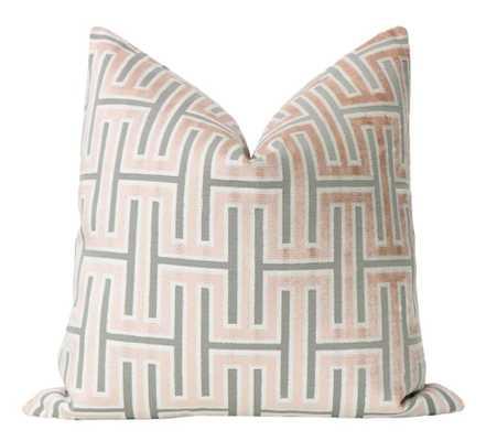 Grecian Cut Velvet // Blush - Little Design Company