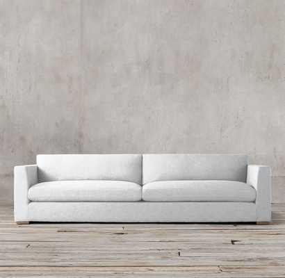 Parisian Taper Arm Sofa - Vintage Velvet White - 7' Luxe Depth - RH