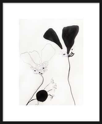 Flower Study 1 - Framed - Matte Black Metal Frame - Artfully Walls