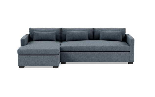 CHARLY SLEEPER Sleeper Sectional Sofa with Left Chaise Rain - Interior Define