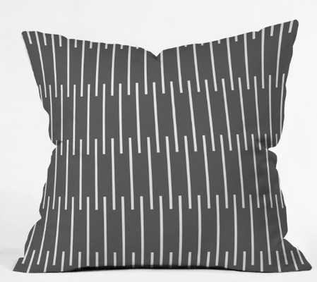 "meridian grey Throw Pillow - indoor, insert included 26"" x 26"" - Wander Print Co."