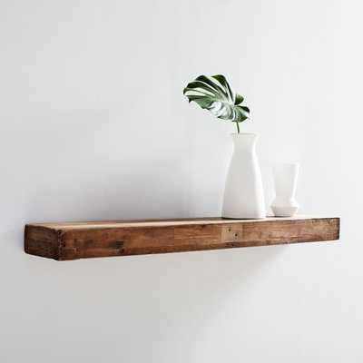 Reclaimed Wood Floating Shelf- 4Ft, Reclaimed Pine - West Elm