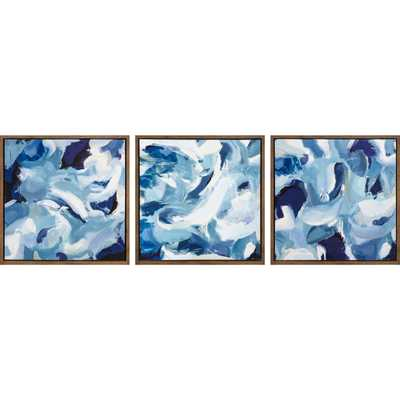 Blue Vibes 3pc Tinted Gel Framed Wall Canvas Blue - Project 62™ - Target