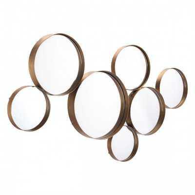 Teo Circular Mirror Gold - Zuri Studios